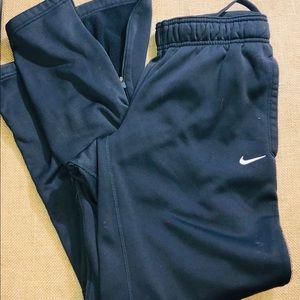 Nike Fleece Lined Warm Up Pants Size M